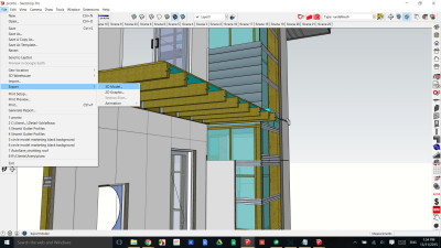 Select File export 3D model IFC for Revit import