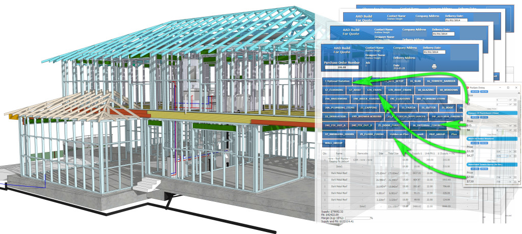 3D model with structural timber Steel, HVAC, and trusses for 3D BIM, VDC & Estimating