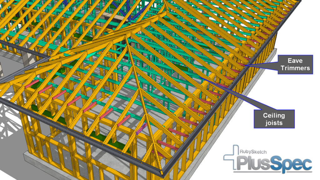 Ceiling Joists in PlusSpec for SketchUp