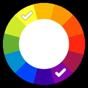 Complementary colour scheme concept