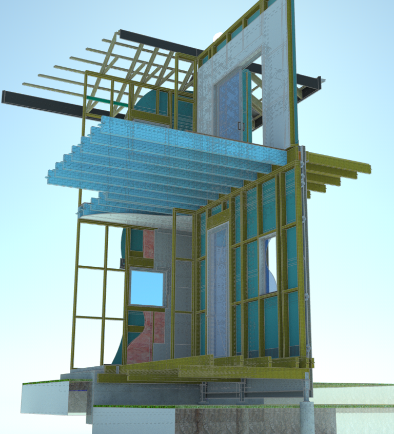 3d construction detail for BIM VDC in Sketchup Plusspec