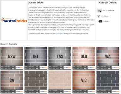 Austral Bricks Full Product Range