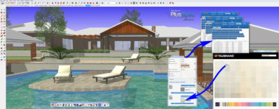 Colour consultation using Sketchup and PlusSpec Sustainable Design and Construction