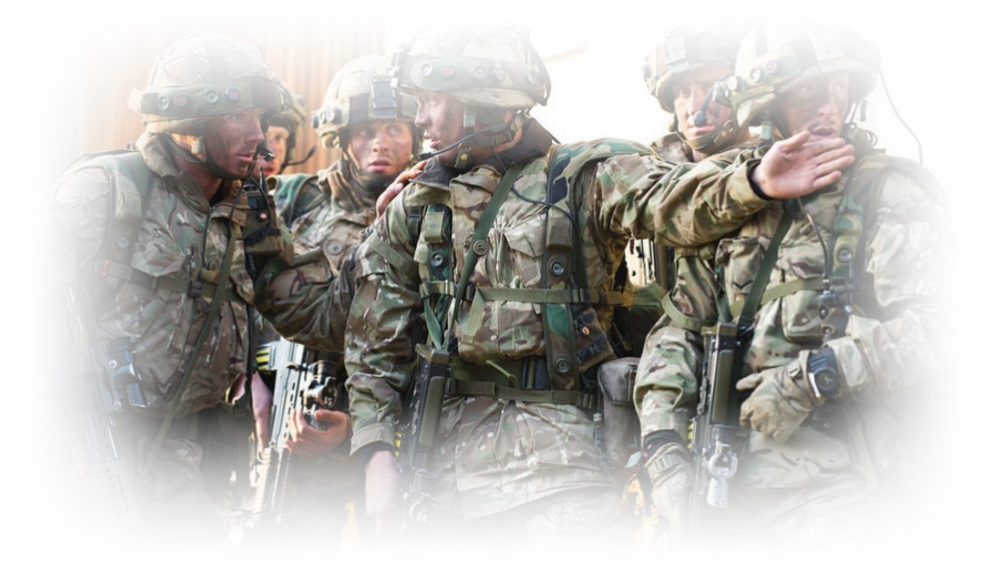 The army helping construction design and implementation