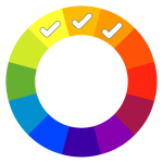 concept analgous colour set triple