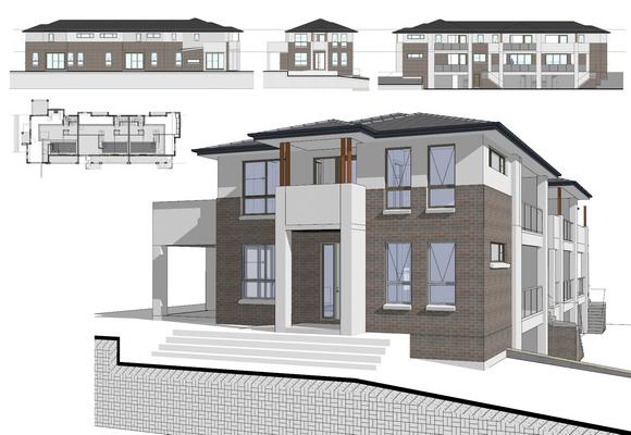 Modern House 3D Model VDC