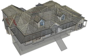 Clear Roof Structure 3D model