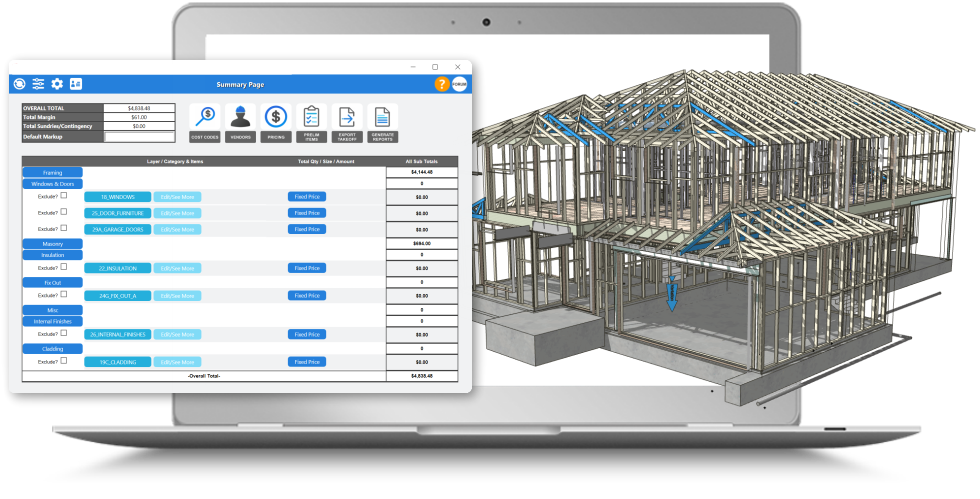 Frame Detailing and Frame Layouts Software Program BIM VDC
